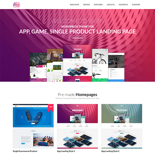 Riven Single Product WordPress Theme