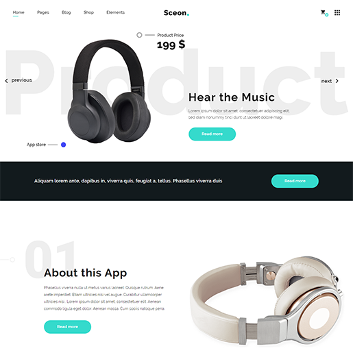 Sceon Single Product WordPress Theme