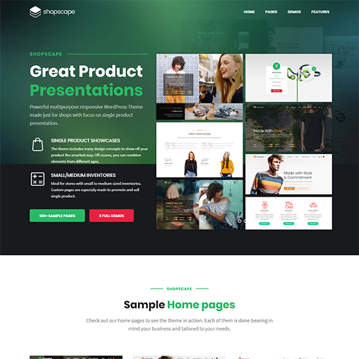 Shopscape Single Product WordPress Themes