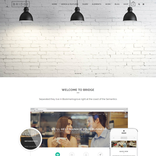 bridge premium responsive wordpress themes