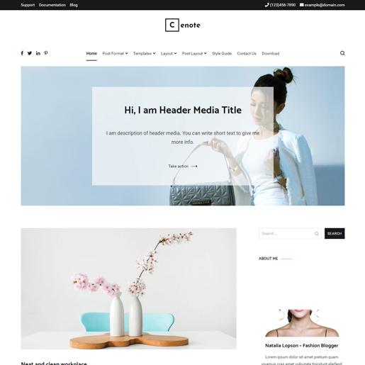 cenote premium responsive wordpress themes