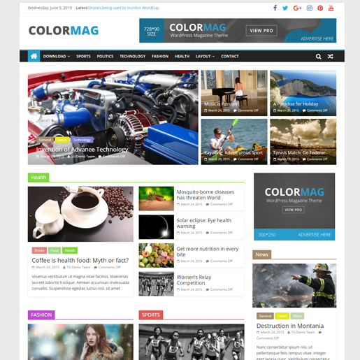 colormag premium responsive wordpress themes