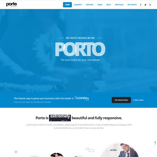 porto premium responsive wordpress themes