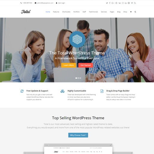 total premium responsive wordpress themes