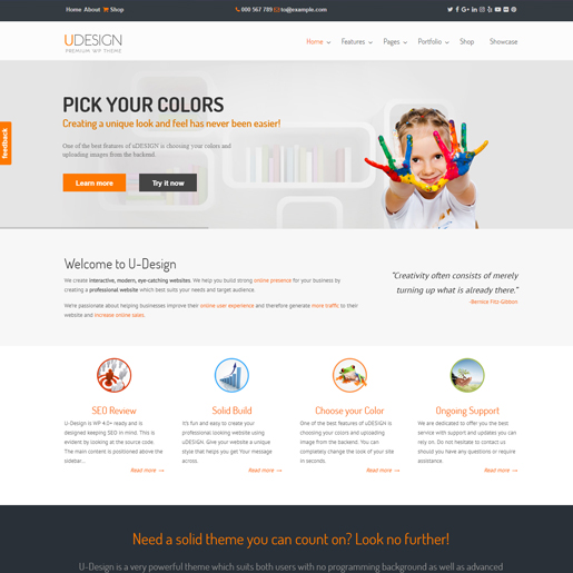 udesign premium responsive wordpress themes