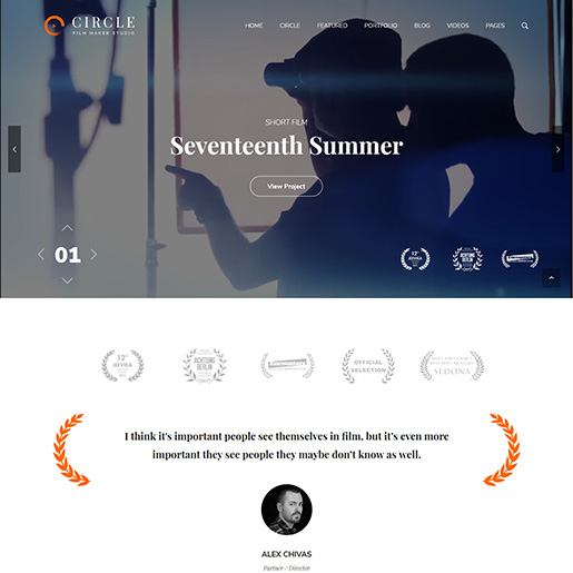 Circle Videographer WordPress Theme