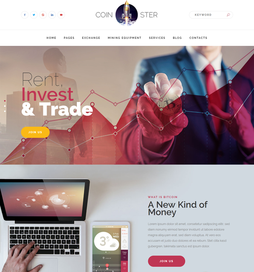 Coinster WordPress Theme