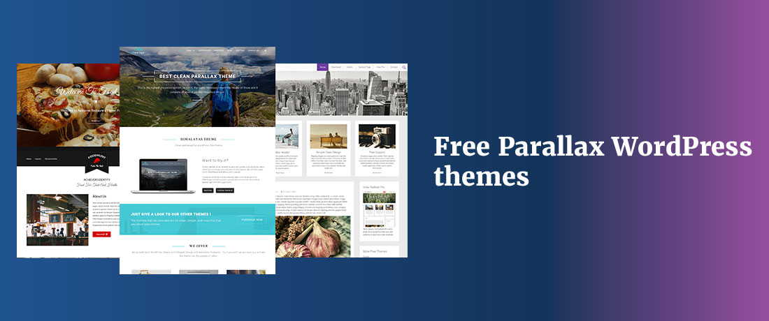 20+ Free Parallax WordPress Themes for Personal and Business Websites