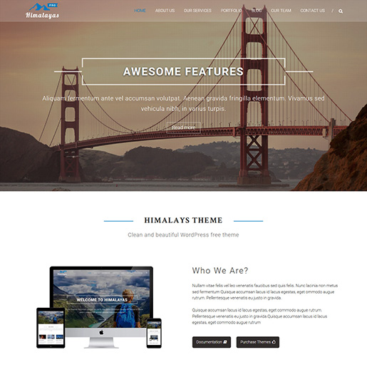 Himalayas Pro Best WordPress Videographer Themes