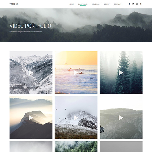 Tempus best videographer WordPress themes