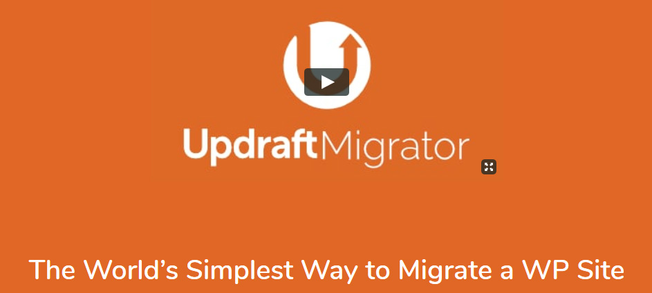 UpdraftPlus wordpress site migration plugin