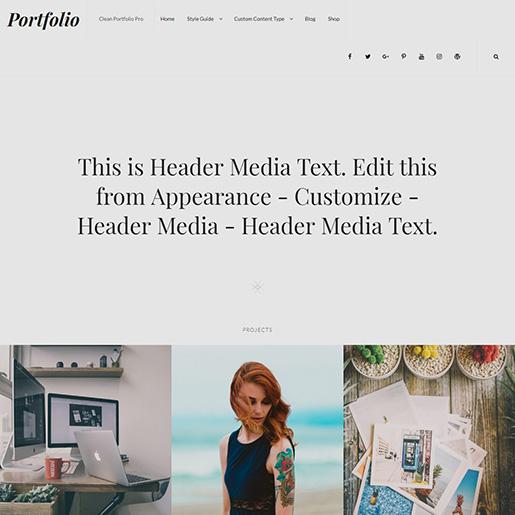 WordPress Resume Themes Free clean portfolio