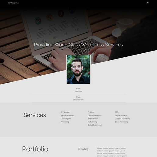 WordPress Resume Themes Free portfoliooo