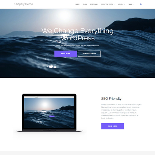free parallax wordpress themes - shapely