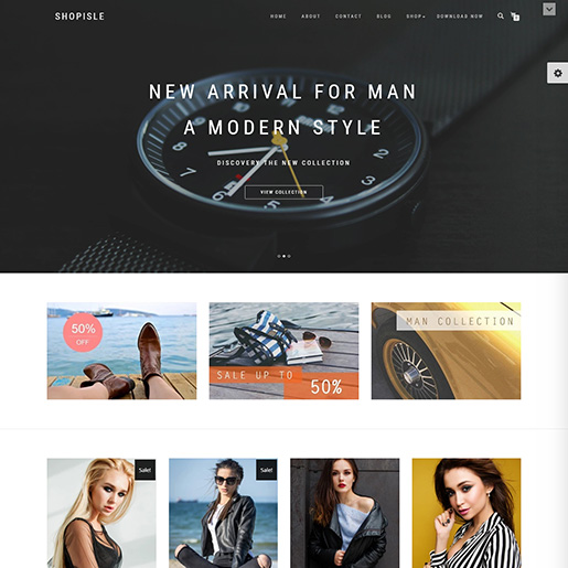 free parallax wordpress themes - shopisle
