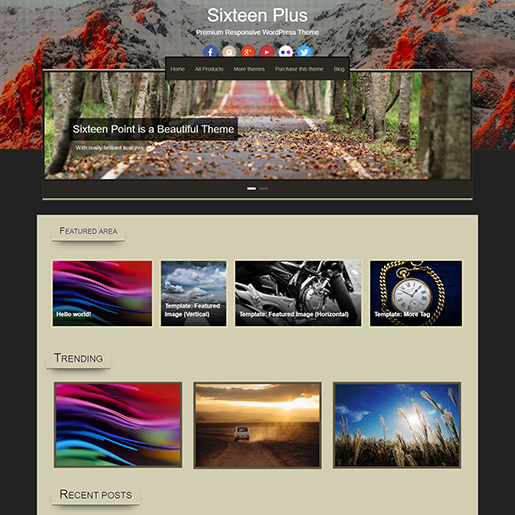 free parallax wordpress themes - sixteen