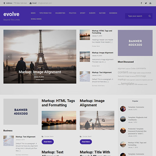 free wordpress themes evolve