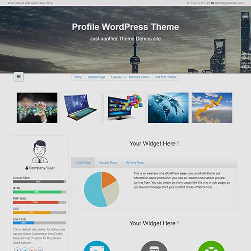 wordpress-resume-themes-free profile