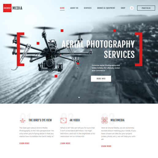 drone-media-wordpress-technologische-thema's