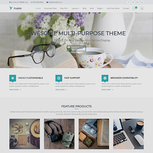 free clean WordPress themes - Flash