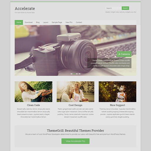 free clean WordPress themes - accelerate
