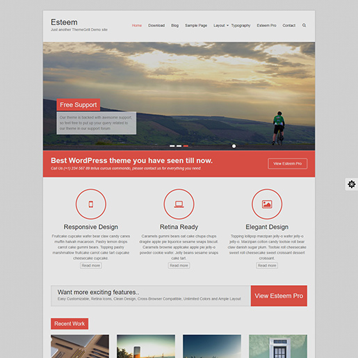 free clean WordPress themes Esteem