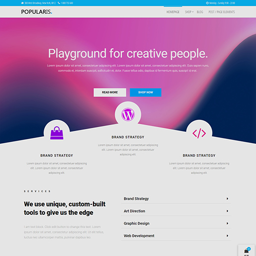 free clean WordPress themes Popularis