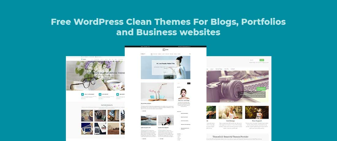 17 Free Clean WordPress Themes For Blogs, Magazines, and E-Shops