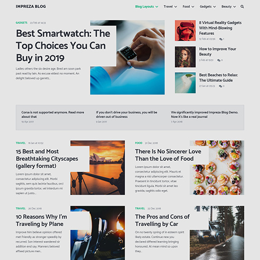 Best Clean WordPress themes impreza