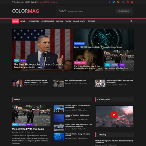 ColorMag Dark WordPress Themes