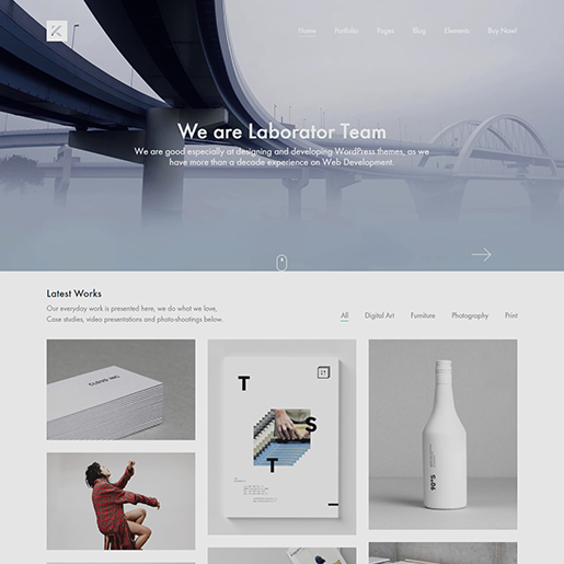 best clean WordPress theme kalium