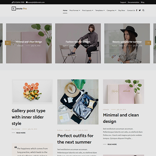 best clean WordPress themes cenote pro