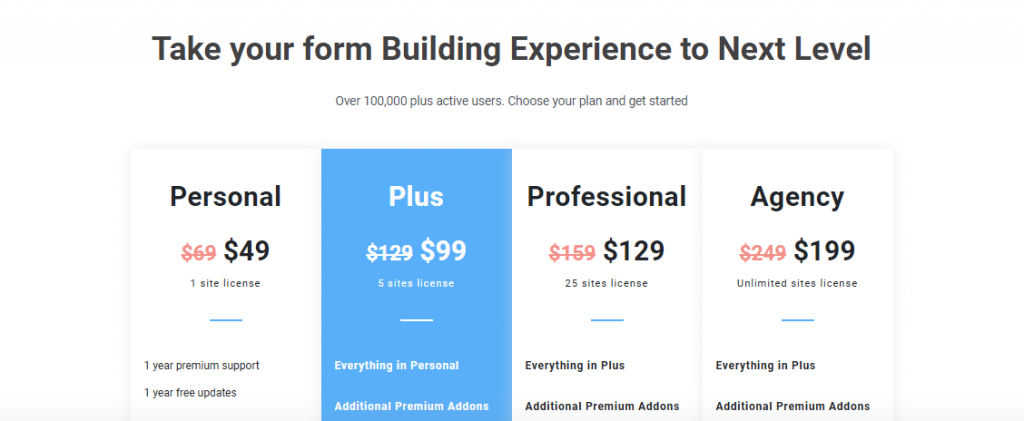 best-wordpress-contact-form-plugin-Everest-forms-pricing-1