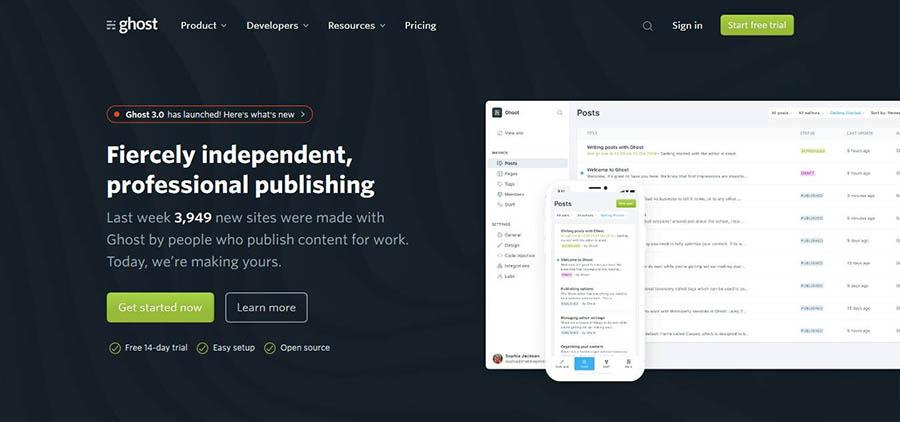 ghost best blogging platforms