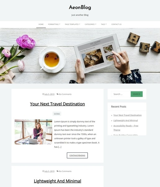 AeonBlog WordPress Theme-Best Accessibility WordPress Theme