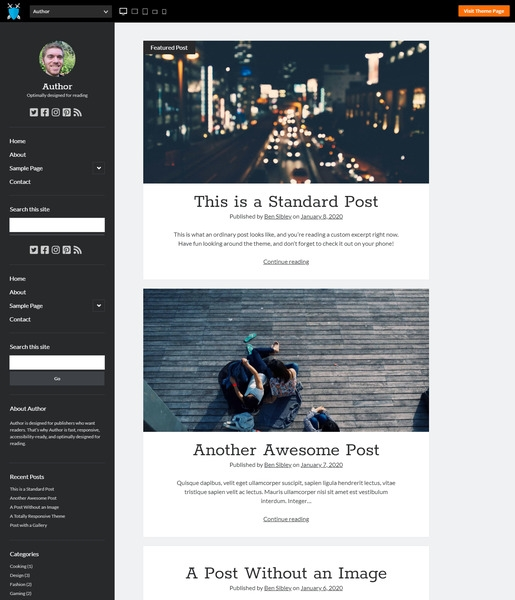 Author WordPress Theme-Best Accessibility WordPress Theme