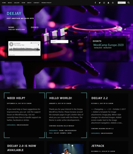 Deejay WordPress Theme-Best Accessibility WordPress Theme