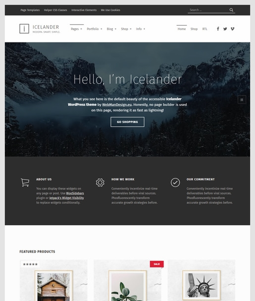 Icelander WordPress Theme-Best Accessibility WordPress Theme