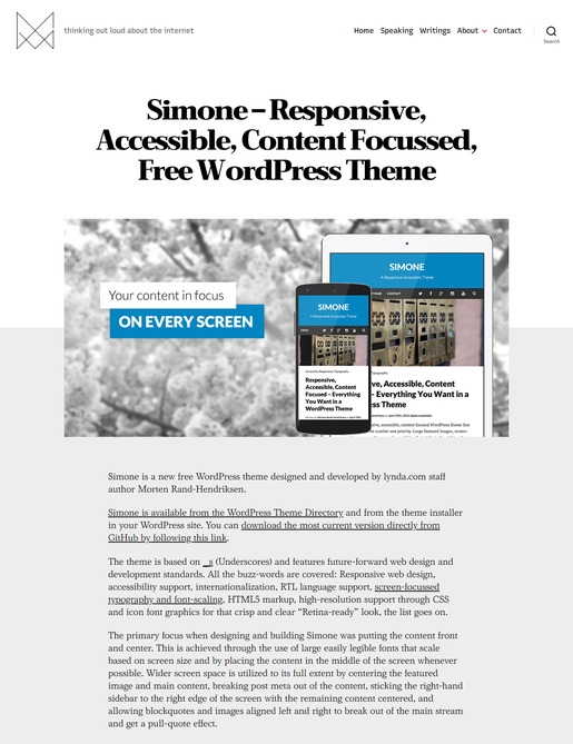 Simone WordPress Theme-Best Accessibility WordPress Theme