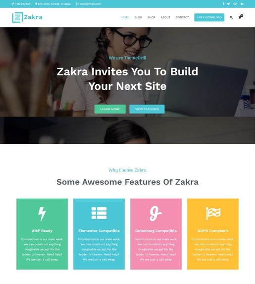Zakra WordPress Theme-Best Accessibility WordPress Theme