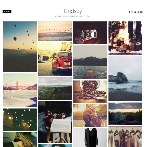 gridsby free photography wordpress theme