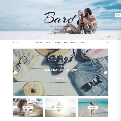 Free WordPress Slider theme - Bard