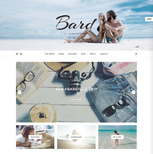 Free WordPress Slider theme - Bard