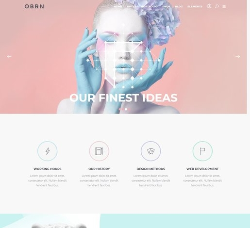 Oberon Beautiful WordPress Theme