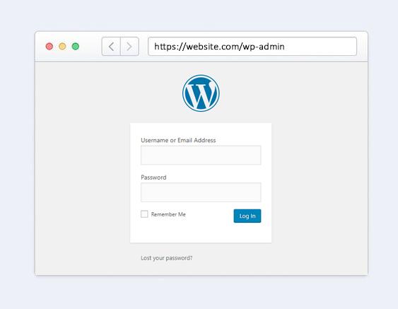 default-login-page-wordpress-login-browser