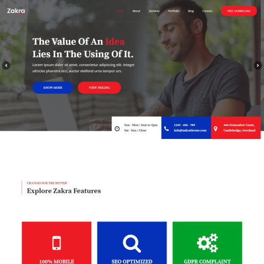 zakra - Slider theme