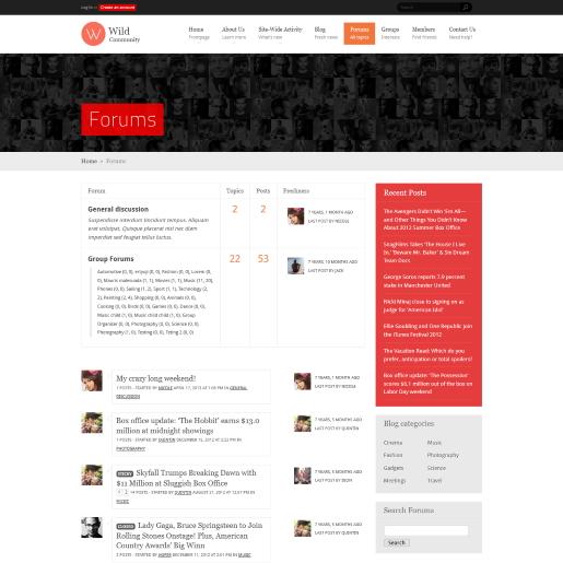 WildCommunity wordpress forum theme