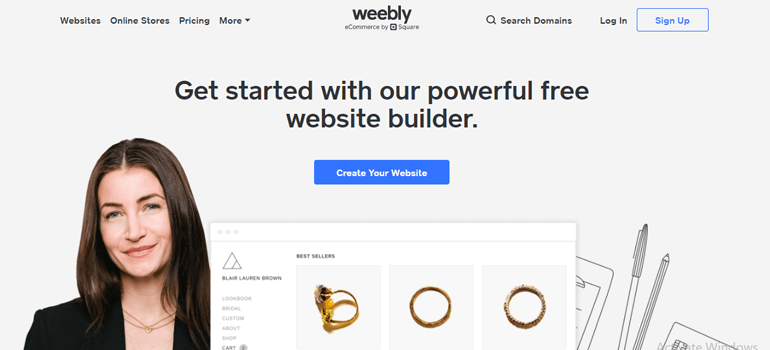Weebly Login Page