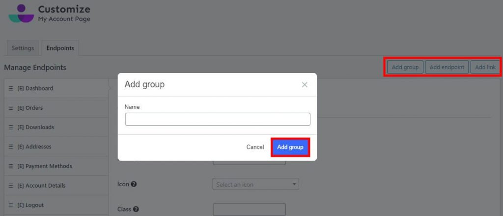 add-group-customize-my-account-page-for-woocommerce-modify-woocommerce-my-account-page