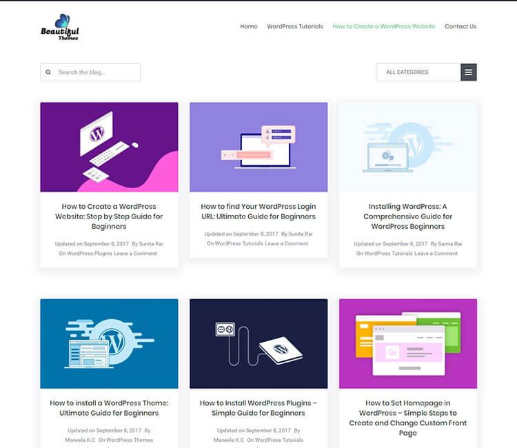 Beautiful Themes WordPress Blog